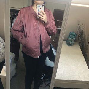 Mauve bomber jacket